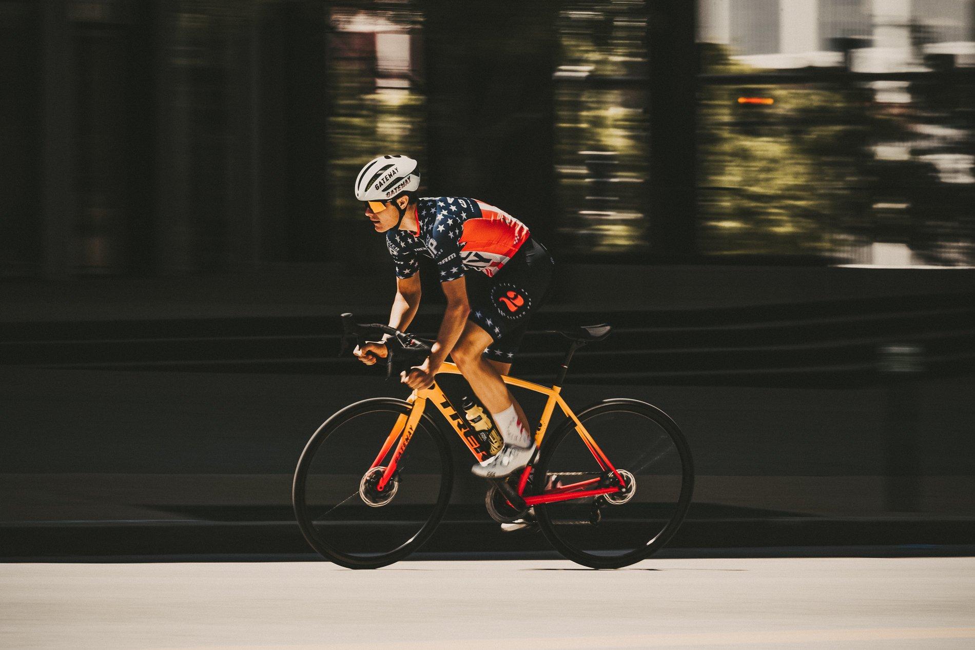 Team gateway cyclist riding goodyear tires