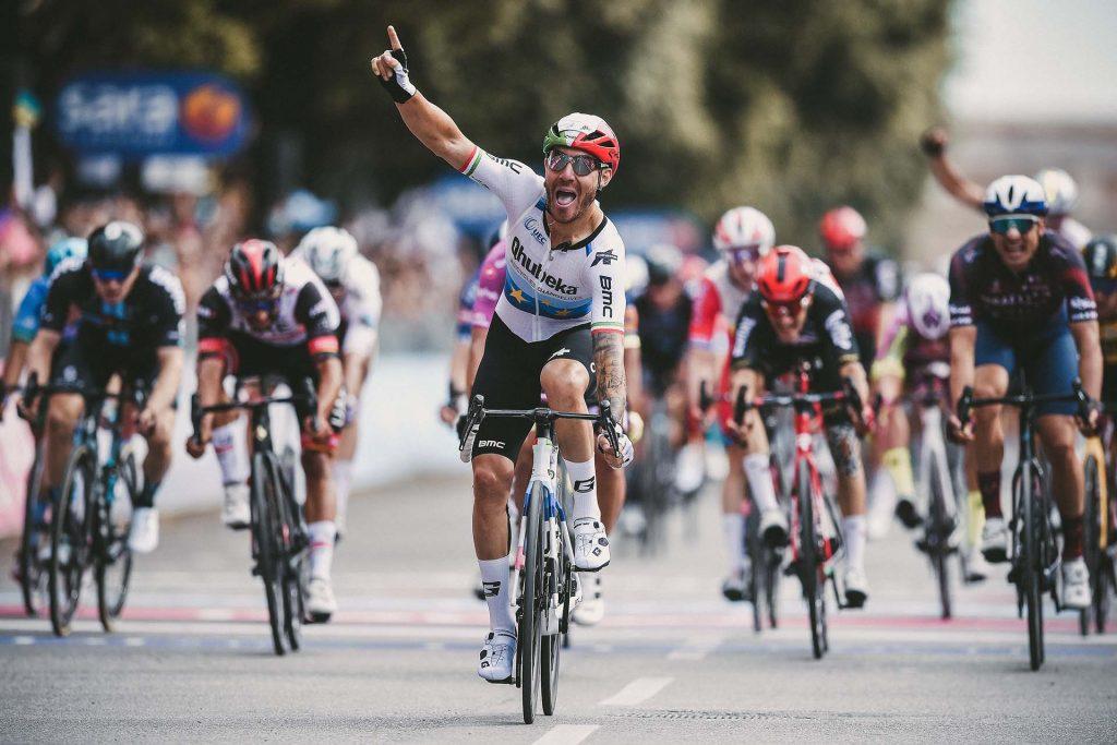 Giacomo Nizzolo taking win at 2021 Giro d'Italia