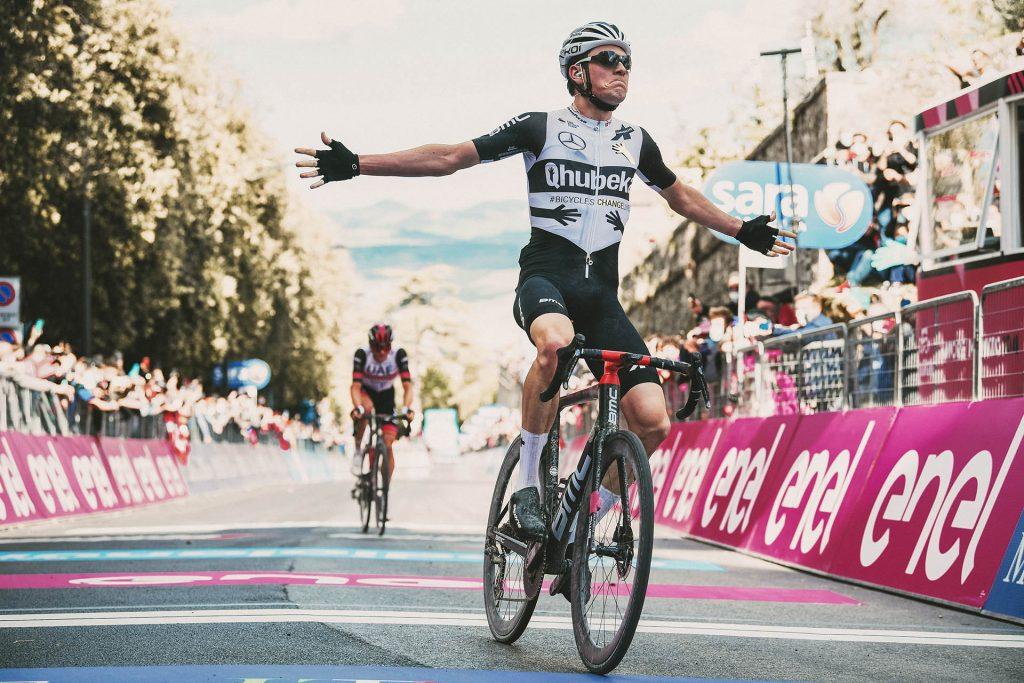 Mauro Schmid taking first win at Giro d'Italia